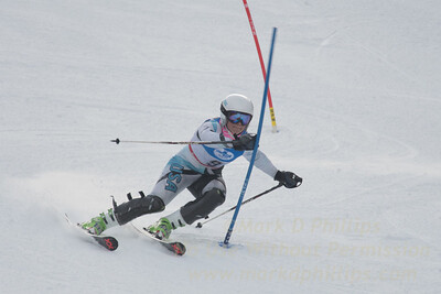M. Stolar at the U21 slalom race at Ski Sundown on January 21, 2018.