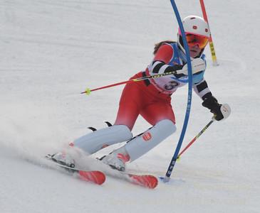 A. Sonju at the U21 slalom race at Ski Sundown on January 21, 2018.