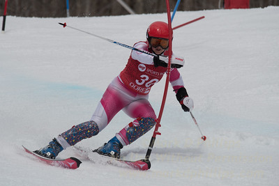 Slalom on Echo at Gore Mountain at the U19/21 Eastern USSA Finals