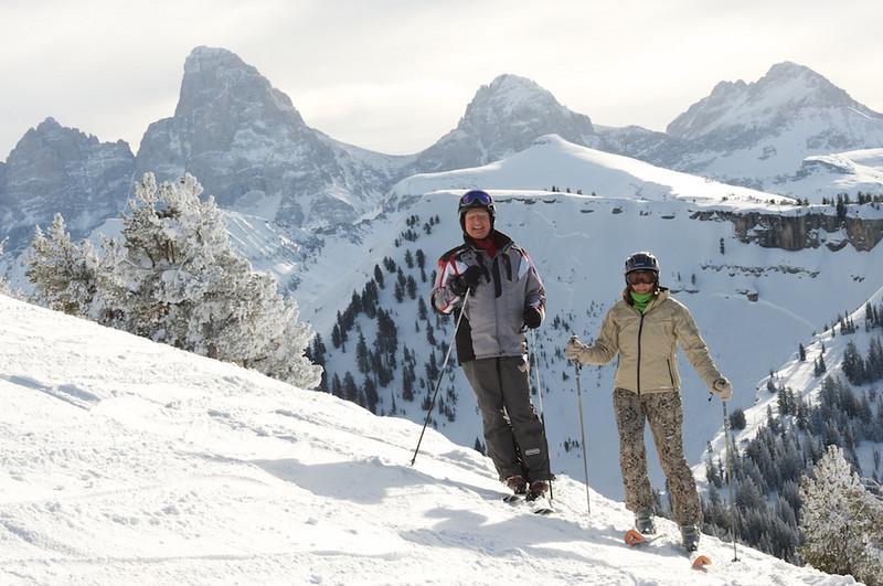 Skiing Grand Targhee with Hawk's Flock 3