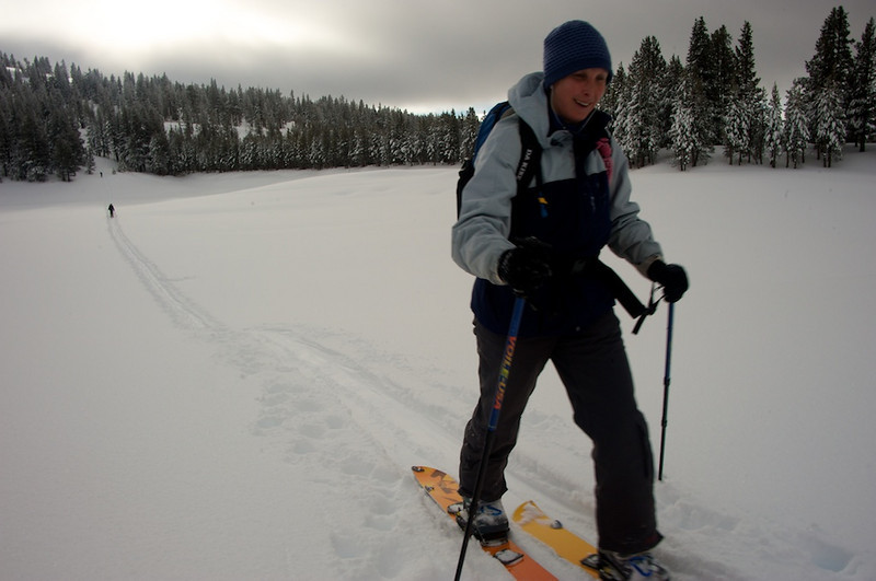 Skiing Incline Peak with Lara 2