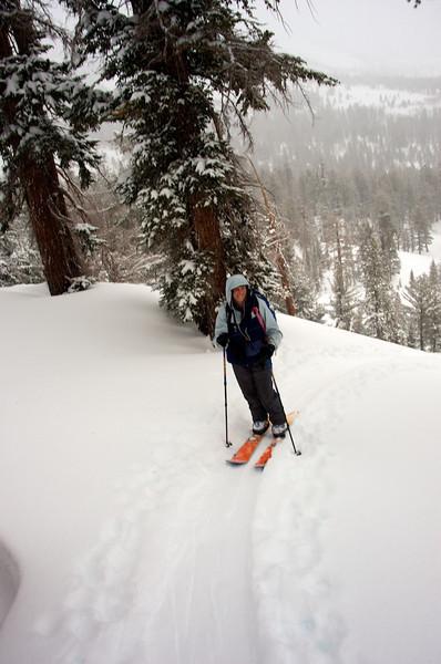 Skiing Incline Peak with Lara 4