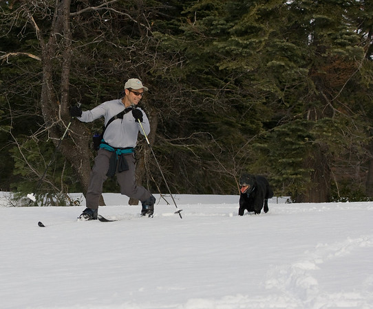 Local skiing at Hwy 20 rest stop