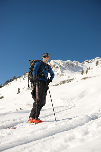 Justin back country in Little Cottonwood Canyon, Utah
