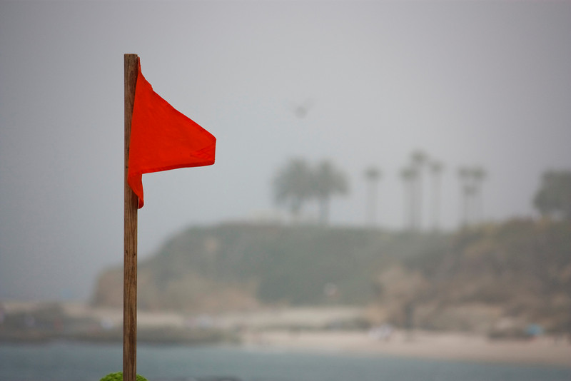 Red flag warning.