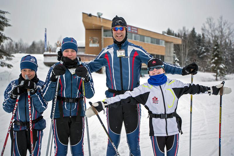 Étienne, Alexis & Papa Stéphane with Stella @ Mt. Ste. Anne<br /> December 28, 2012