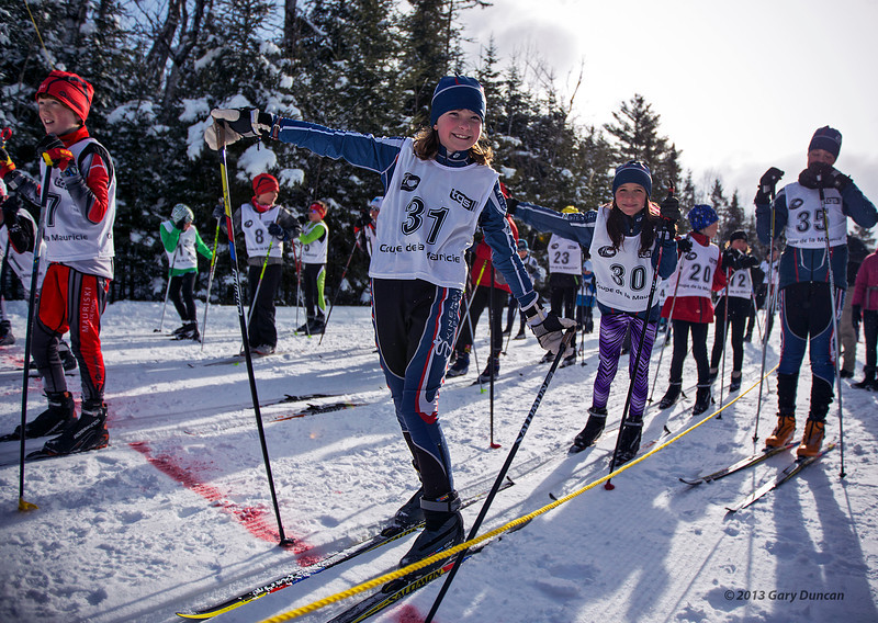 Stella & Liliane, last race of the season; no signs of stress!<br /> Parc de la Mauricie, March 23, 2013