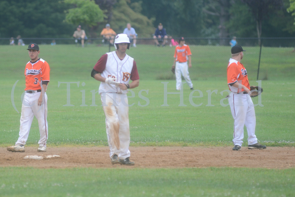. Skippack Wrangers beat the Norristown Diamonds 2-1 during the Friday night Perkioman Valley Twilight League Playoff.  Friday, August 1, 2014.  Photo by Adrianna Hoff/Times Herald Staff.
