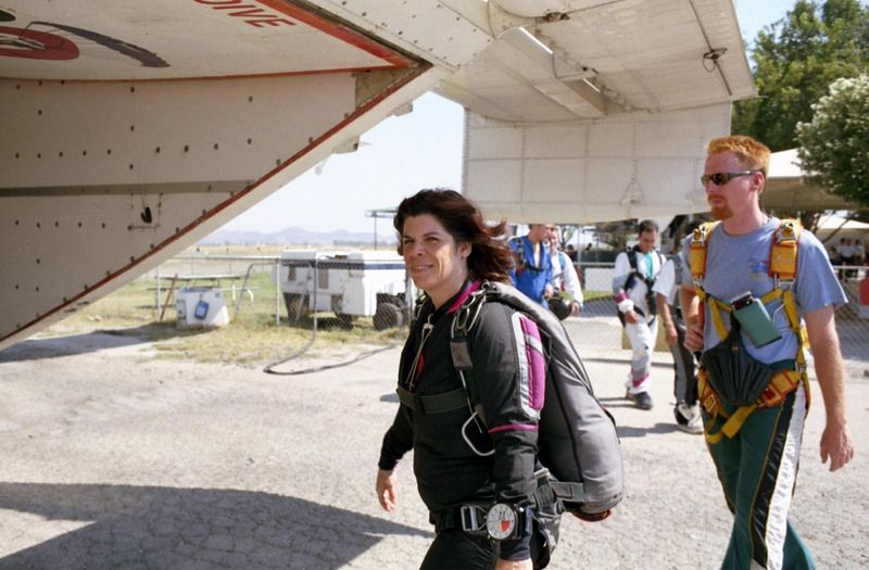 h) This is my return to skydiving after a 10-year lag.