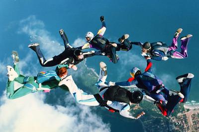1997 Ubatuba's boogie. Jump organized by Airspeed's Jack Jefferies.
