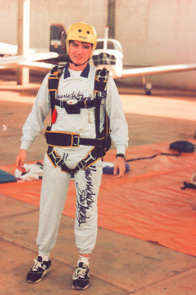Preparing for the first jump. November 1994. Sorocaba, Sao Paulo, Brasil