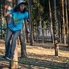 Fabricio Unda en el slackline - Bosque Quenqo - Villa San Blas - Cusco - Perú