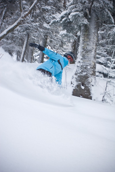 Tawny likes the powder part