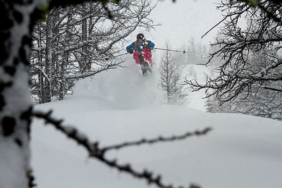 S. Alan Hogg slaying last year's monster storm at Lake Louise