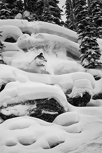 Eric Hjorleifson proving that dynafit bindings aren't just for farming pow, Sentry Lodge