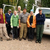 BWA Committee volutneers with Cory from the Kawishiwi R.D. Forest Service.