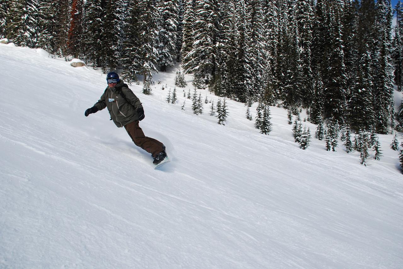 Myself enjoying the snow on Granite Mountain at Red.
