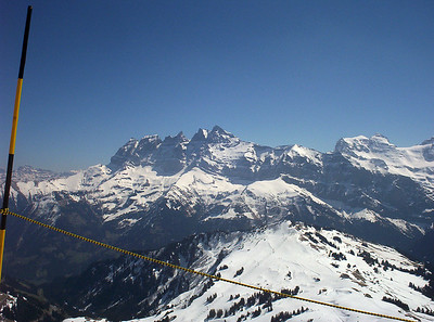 The stunning Dents du Midi from the French/Swiss border between Avoriaz and Champery. This pic was taken in April 2007.