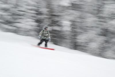 Jill enjoying the snow in Montana.