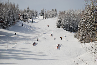 The terrain park at Whitefish mountain,Montana.