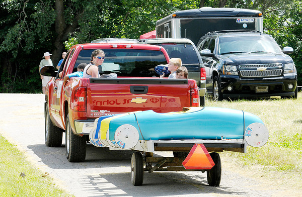 Don Knight   The Herald Bulletin<br /> Soap Box Derby at Derby Downs on Saturday.