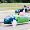 Don Knight | The Herald Bulletin<br /> Gracey Carpenter races in the Soap Box Derby at Derby Downs on Saturday. Carpenter won the Super Stock division.