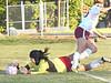 South goalie breaks up scoring play by D-B. Photo by Ned Jilton II