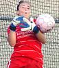D-B goalie breaks up scoring effort by South. Photo by Ned Jilton II