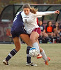 #15 for D-B pushes past #12 of South Doyle. Photo by Ned Jilton II