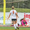Star Photo/Larry N. Souders<br /> Lady Cyclones's goalie (30) saves a shot on goal by Sullivan South late in the first half of Thursday's match at Elizabethton.