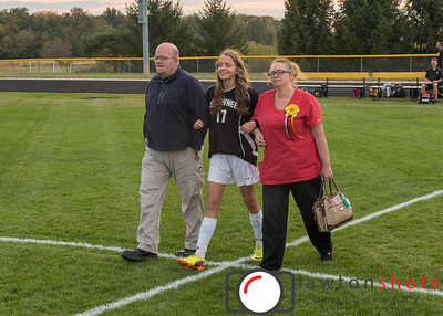 Shawnee Girls' Soccer - Senior Night - 10/8/2015