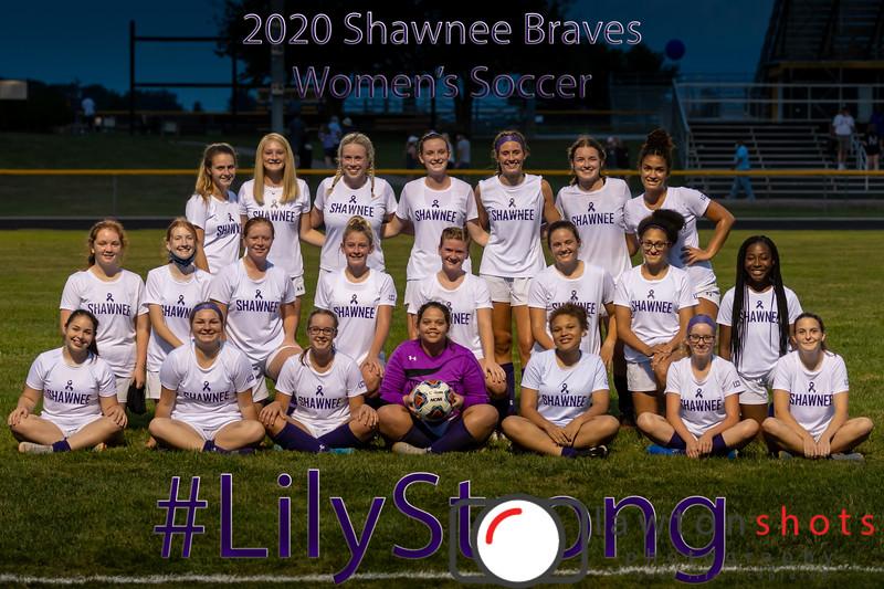 Shawnee Braves - Women's Soccer Team - 2020 - #LilyStrong