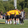 The Huddle before the game starts.