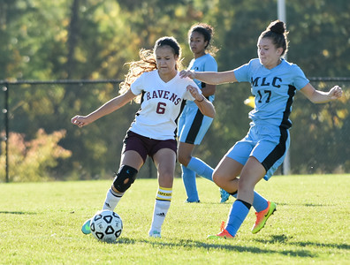 101216  Wesley Bunnell | Staff  Med Ed Prep Girls Soccer hosted MLC on Wednesday afternoon. Natalia Mularzuk #6 .