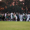 Record-Eagle/Keith King<br /> Traverse City West students cheer after a Traverse City West goal against Traverse City Central Tuesday, September 11, 2012 at the Traverse City Central Soccer Complex at the Coast Guard Field.