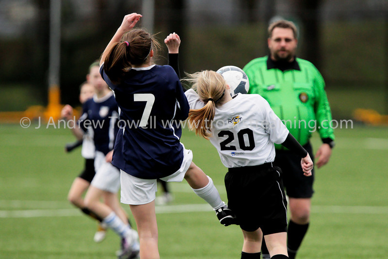 "Snapshot images from the FC Edmonds Girls U13 Quiet Riot 2010-11 Soccer Club action. Image Copyright © 2011 J. Andrew Towell for Troutstreaming  outdoor and sports media. All Rights Reserved. 4x6 prints will be made 'as-is' and are priced accordingly, all other sizes and products will be post-processed by hand to maximize image quality. Small digital images for web use are available on request with any print purchase. Images may be used for personal viewing, but may not be used for any commercial purposes or altered in any form without the express prior written permission of the copyright holder, who can be reached at troutstreaming@gmail.com J. Andrew Towell   <a href=""http://www.troutstreaming.com"">http://www.troutstreaming.com</a> ."