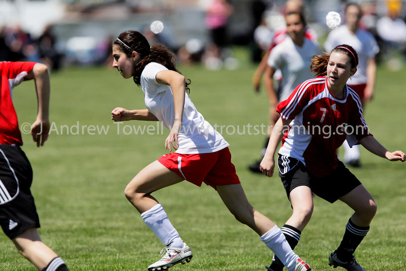 """Snapshot images from the Crossfire Select Farzeen Girls U15 2011-12 Soccer Club action. Image Copyright © 2011 J. Andrew Towell for Troutstreaming  outdoor and sports media. All Rights Reserved. 4x6 prints will be made 'as-is' and are priced accordingly, all other sizes and products will be post-processed by hand to maximize image quality. Small digital images for web use are available on request with any print purchase. Images may be used for personal viewing, but may not be used for any commercial purposes or altered in any form without the express prior written permission of the copyright holder, who can be reached at troutstreaming@gmail.com J. Andrew Towell   <a href=""""http://www.troutstreaming.com"""">http://www.troutstreaming.com</a> ."""