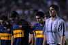 Players of Boca Juniors team walk off the field at the end of their Copa Libertadores second leg semi-final soccer match against Fluminense in Maracana stadium, Rio de Janeiro, Brazil, June 4, 2008. Fluminense defeated Boca Juniors, of Argentina, 3-1 and advanced to their first ever Libertadores Cup final.   (Austral Foto/Renzo Gostoli)
