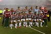 Members of the Fluminense starting team before the semi-final match of the Libertadores Cup at the Maracana stadium in Rio de Janeiro, June 4, 2008. Fluminense defeated Boca Juniors, of Argentina, 3-1 and advanced to their first ever Libertadores Cup final. (Australfoto/Douglas Engle)