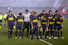 Members of the Boca Juniors starting team before the semi-final match of the Libertadores Cup at the Maracana stadium in Rio de Janeiro, June 4, 2008. Fluminense defeated Boca Juniors, of Argentina, 3-1 and advanced to their first ever Libertadores Cup final. (Australfoto/Douglas Engle)