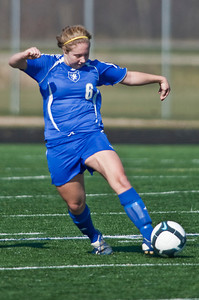 Bexley High Schools #6 Rachael Crane against Middletown Bishop Fenwick High School in the OHSAA Girls Division II Regional Final Soccer Tournament held Saturday afternoon November 7, 2009 at the Hilliard Bradley HIgh School. Bexley won 2-0. (Photo by James D. DeCamp 614-462-8027)