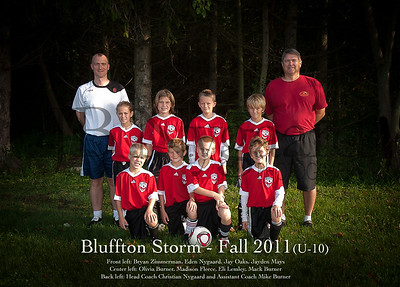 Bluffton Storm Fall 2011 TEAM with naems