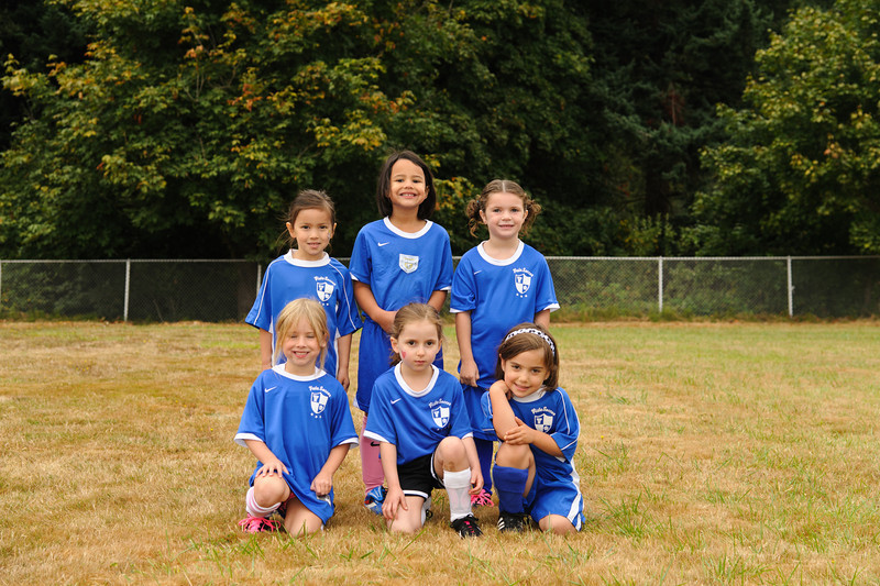 Back row, left to right:  Reiko Nitta,  Isabel Milla,  Breckyn Welsh<br /> Front row, left to right:  Sophia Malinowski,  Phoebe Solomon, Tessa Jacobs