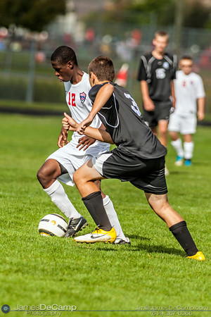 The Grove City High School JV Soccer Team plays host to the Hilliard Darby Panthers Saturday September 22, 2012. (© James D. DeCamp | http://www.JamesDeCamp.com | 614-367-6366)