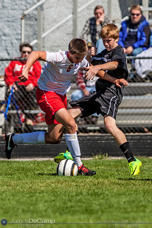 The Grove City High School Varsity Soccer Team plays host to the Hilliard Darby Panthers Saturday September 22, 2012. (© James D. DeCamp | http://www.JamesDeCamp.com | 614-367-6366)