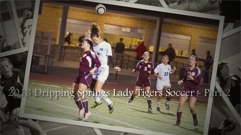 "2013 Dripping Springs Lady Tigers Soccer - Part 2<br /> Song #1 (Cameron) - ""You Get What You Give"" by New Radicals<br /> Song #2 (Ellen) - ""My Texas"" by Josh Abbott Band (featuring Pat Green)<br /> Song #3 (Alex) - ""Scar Tissue"" by Red Hot Chili Peppers<br /> Song #4 (Richi) - ""Stay"" by Rihanna (featuring Mikky Ekko)"