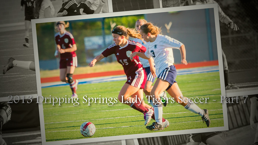 "2013 Dripping Springs Lady Tigers Soccer - Part 7<br /> Song #1 (Hannah N.) - ""Love the Way You Lie"" by Eminem (Featuring Rihanna)<br /> Song #2 (Selected by Erin and Izzy) - ""Cruise (Remix)"" by Florida Georgia Line (Featuring Nelly)<br /> Song #3 (Selected by Erin and Izzy) - ""Wavin' Flag (Coca Cola Celebration Mix)"" by K'naan"