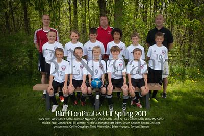 Bluffton Pirates Spring 2013 U-11 Travel Team with names