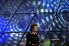 Brazilian President Dilma Rousseff speaks at the Preliminary Draw of the 2014 FIFA World Cup Brazil in Rio de Janeiro, Brazil, July 30, 2011. The 2014 World Cup took shape Saturday as the qualifying draw laid out each nation's path to securing a spot in the tournament in three years' time. The draw determined the layout of the qualifying groups for Africa; North, Central America and the Caribbean; Asia; Europe; and Oceania. (Austral Foto/Renzo Gostoli)