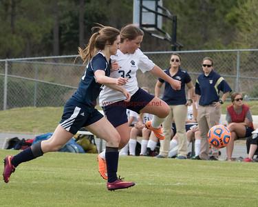 GISA Soccer: Brookwood Lady Warriors vs. Tiftarea Academy Lady Panthers. TA wins 3-0 behind three second half goals by Maci Paulk (2) and Morgan Strength (1)